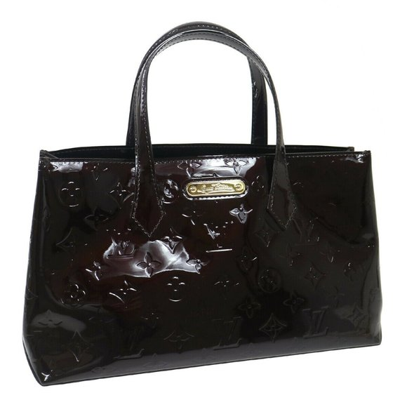 LOUIS VUITTON VERNIS WILSHIRE PM HAND TOTE BAG SN0
